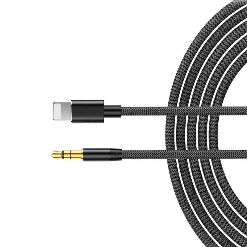 For iPhone 12 11 8 7 to 3.5mm Jack Aux Cable Car Stereo Audio Music Headset Lead