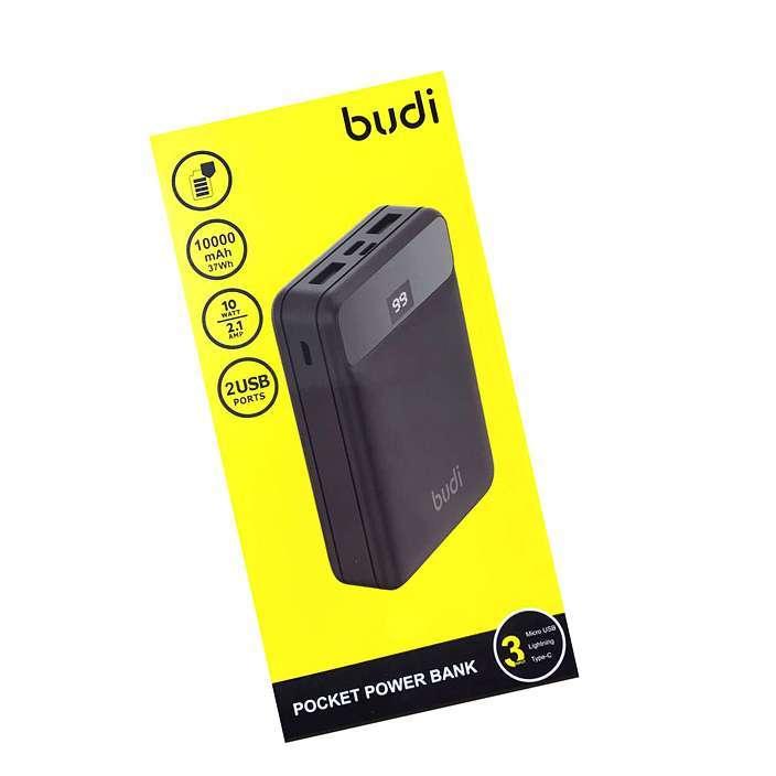 BUDI 2 USB POCKET POWER BANK 10000mAh 2.1A FAST CHARGING POWER BANK